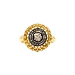 The Natasha Diamond 22 Karat Gold Overlay Cocktail Ring