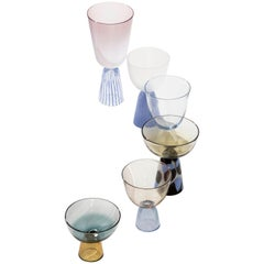 Nebbia Collection Set of Six Hand Blown Murano Glasses
