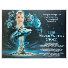 The Never Ending Story 1985 UK Quad Film Poster, Casaro