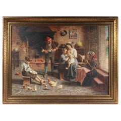 The New Baby by Eugenio Zampighi Painting