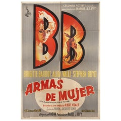 The Night Heaven Fell 1958 Argentine Film Poster