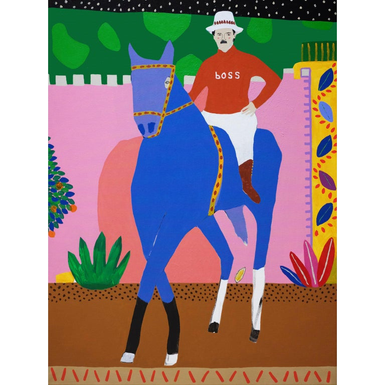 'The Night Rider' Figurative Portrait Painting by Alan Fears Pop Art For Sale