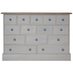 The No.14 Vintage Style Painted Bank of Shop Drawers