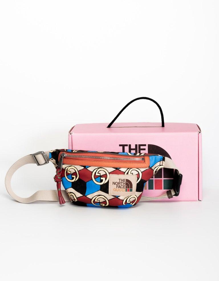 Black The North Face x Gucci Geometric Interlocking G Print Belt Bag For Sale