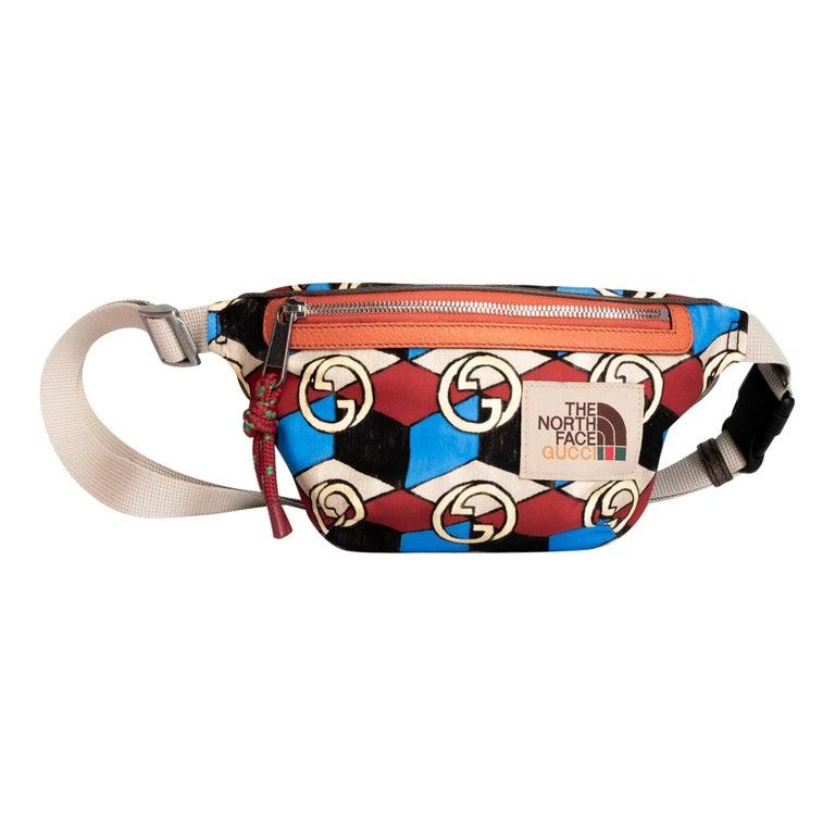 The North Face x Gucci Geometric Interlocking G Print Belt Bag For Sale