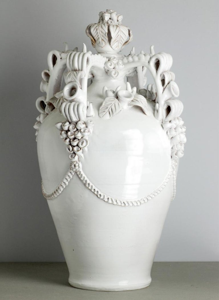 Long a traditional wedding present, The Nuptial vase was originally gifted to new brides as a small bedside carafe. With the arrival of running water 50 years ago, however, these vases became purely ornamental and began growing in size and