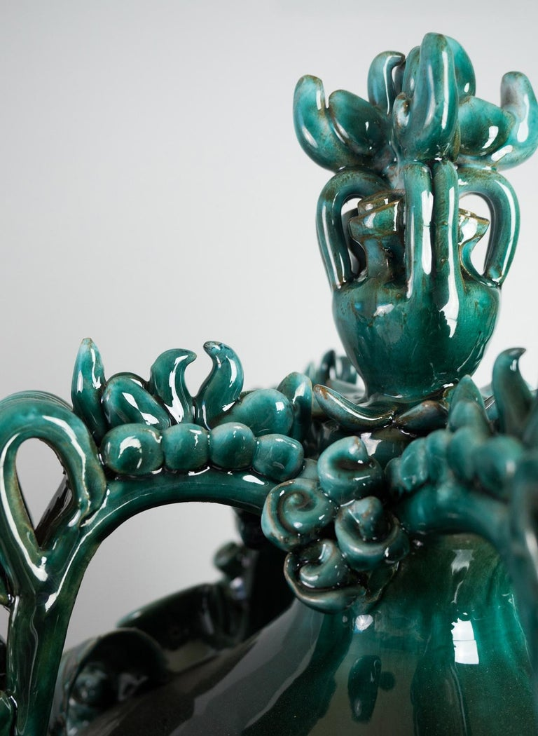 The Nuptial Vase, a Traditional Sardinian Wedding Carafe by Walter Usai In New Condition For Sale In Santadi, SU