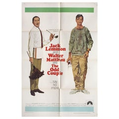 The Odd Couple 1968 U.S. One Sheet Film Poster