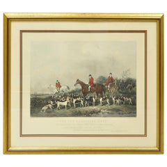 Old Berkshire Hunt Lithograph Framed Print Painting by John Goode Engraved