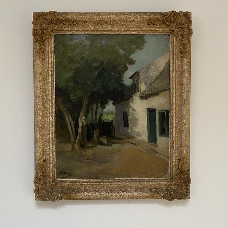 Old Cottage, Holywell St Ives, Oil on Canvas For Sale 2