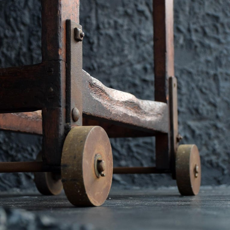 Wood Old English Mill Trolley, circa 1900 For Sale