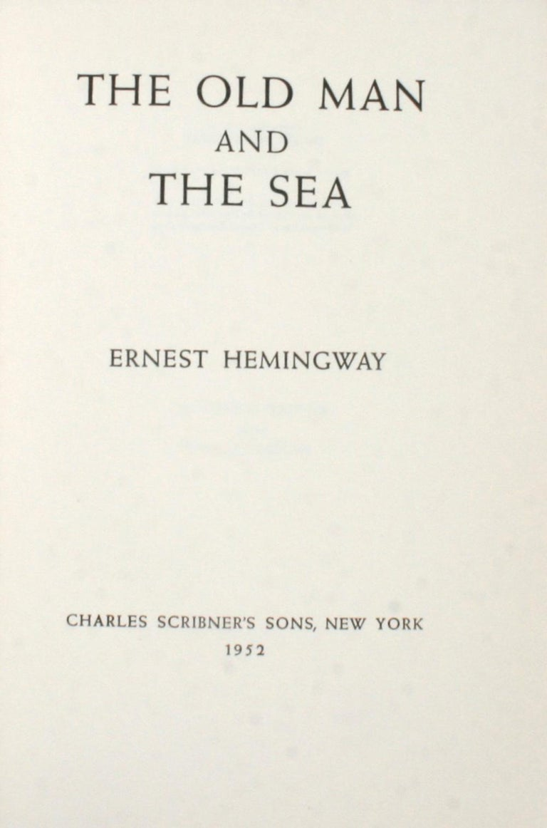 American The Old Man and the Sea by Ernest Hemingway For Sale