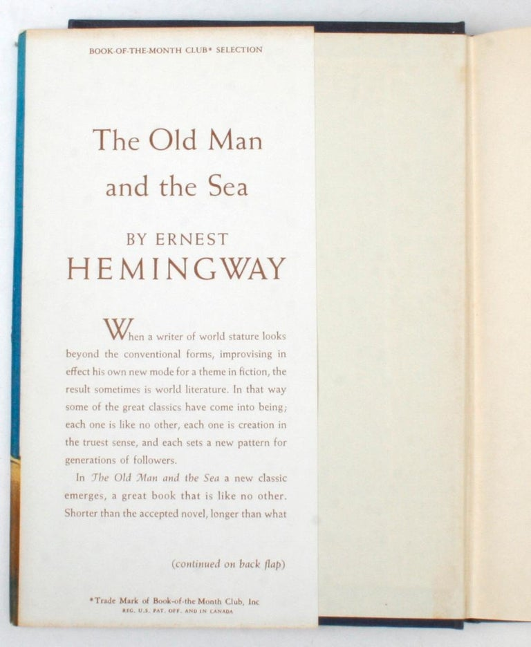 The Old Man and the Sea by Ernest Hemingway In Good Condition For Sale In Kinderhook, NY