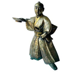 THE ONE, Japanese Samurai Sculpture in Solid Brass