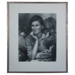"""""""The Other Series: After Lange"""" by Kathy Grove 1989 Silver Photo Female Portrait"""