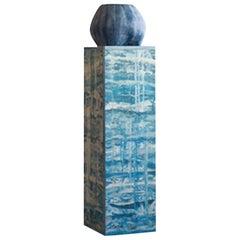 Outside ii 'Blue' Sculpture by Hilda Hellström