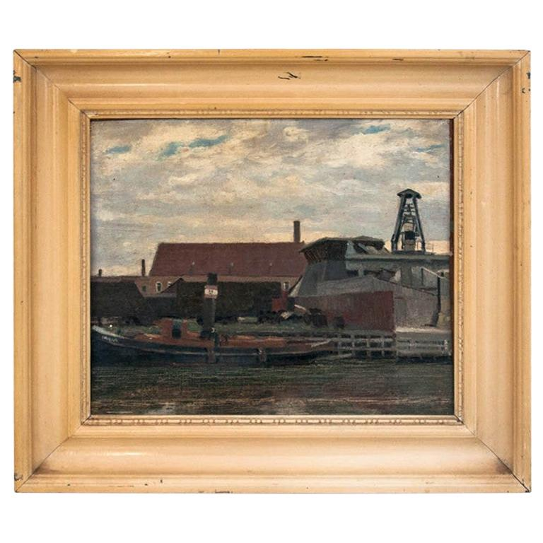 """The Painting """"Ship in the port"""""""