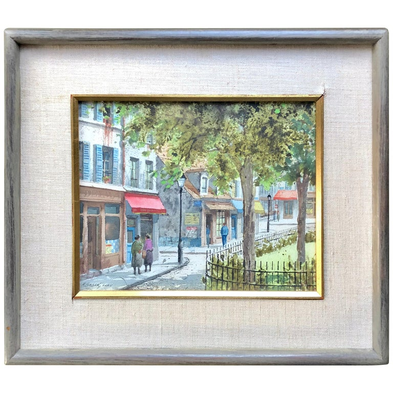 """The Park Square, Paris"" by Henry Martin Gasser For Sale"