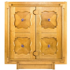 Parterre Cabinet in White Oak with Amethyst Pulls by /bǝ'spōk/ by WA