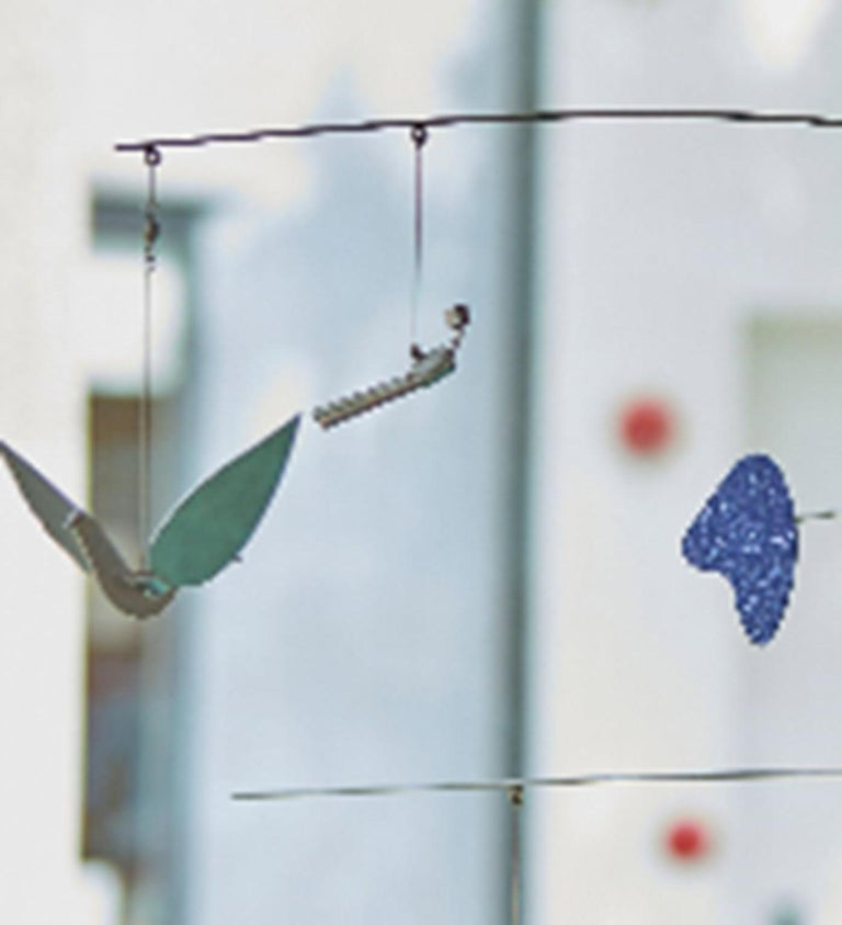 Aluminum and stainless steel hanging sculptureby Peter Shire, 2015. Approx: 48