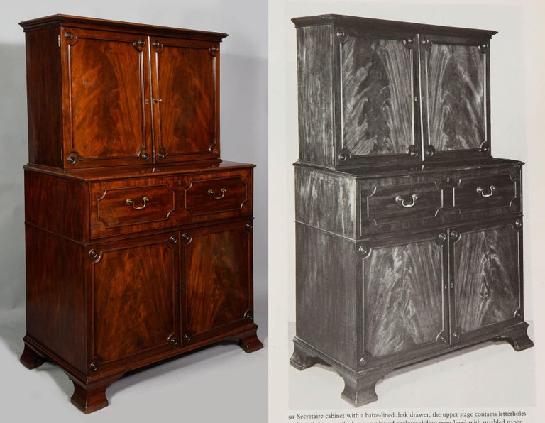 English Paxton House Secretaire, by Thomas Chippendale For Sale