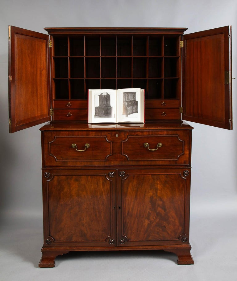 Mahogany Paxton House Secretaire, by Thomas Chippendale For Sale