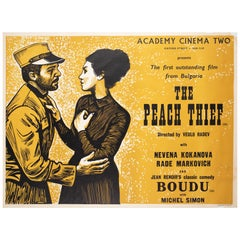 """The Peach Thief"", 1965 Academy Cinema London UK Quad Film Poster, Strausfeld"