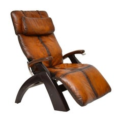The Perfect Chair, Retro Leather Zero Gravity Reclining Armchair
