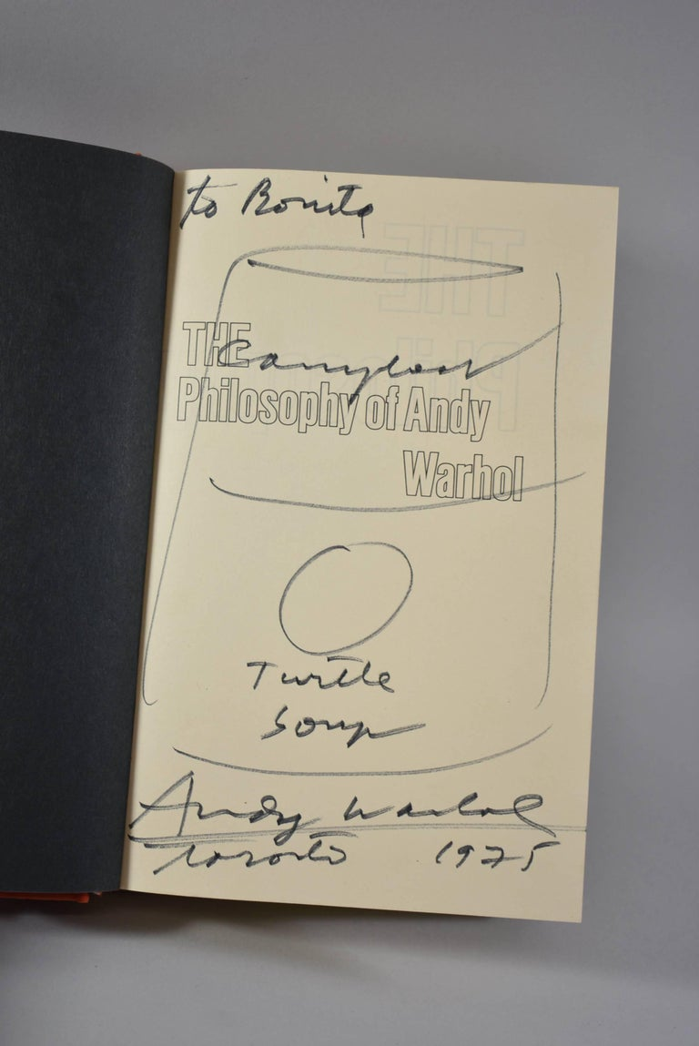 Modern The Philosophy of Andy Warhol from A to B & Back Again Signed Andy Warhol Book For Sale