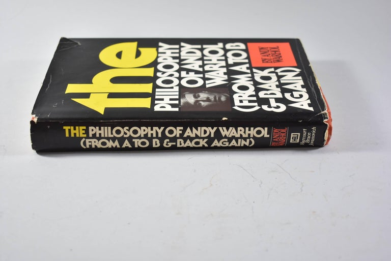 American The Philosophy of Andy Warhol from A to B & Back Again Signed Andy Warhol Book For Sale