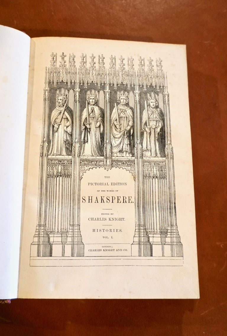 19th Century The Pictorial Edition of the Works of Shakspere 'sic' in 8 Leatherbound Volumes For Sale