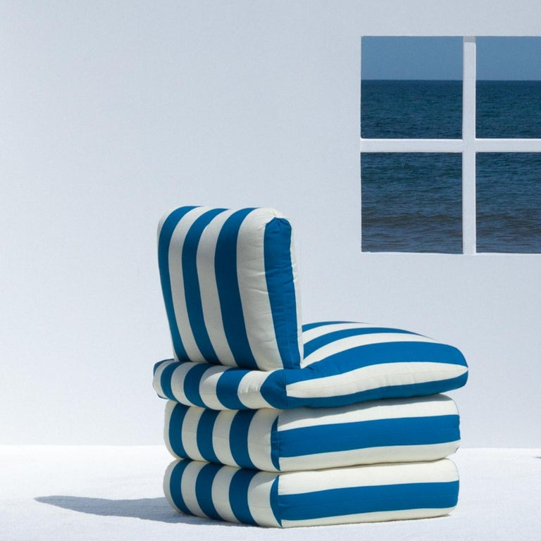 American The Pillow Chair, Blue For Sale