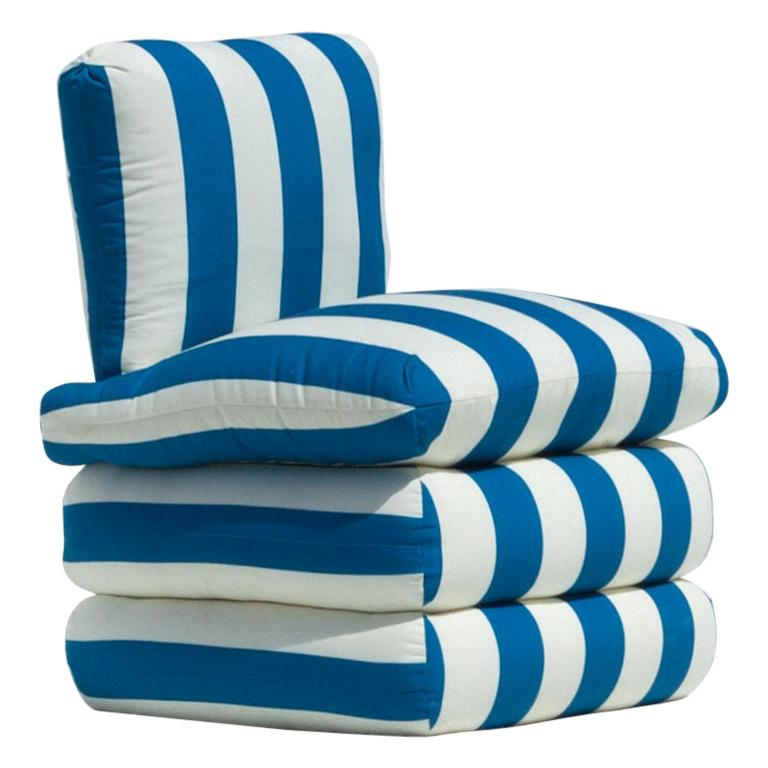 The Pillow Chair, Blue For Sale