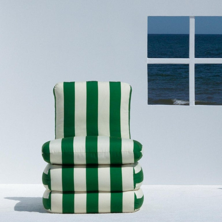 American Pillow Chair, Green For Sale