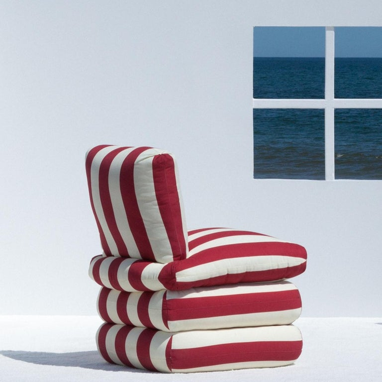 Contemporary The Pillow Chair, Red For Sale