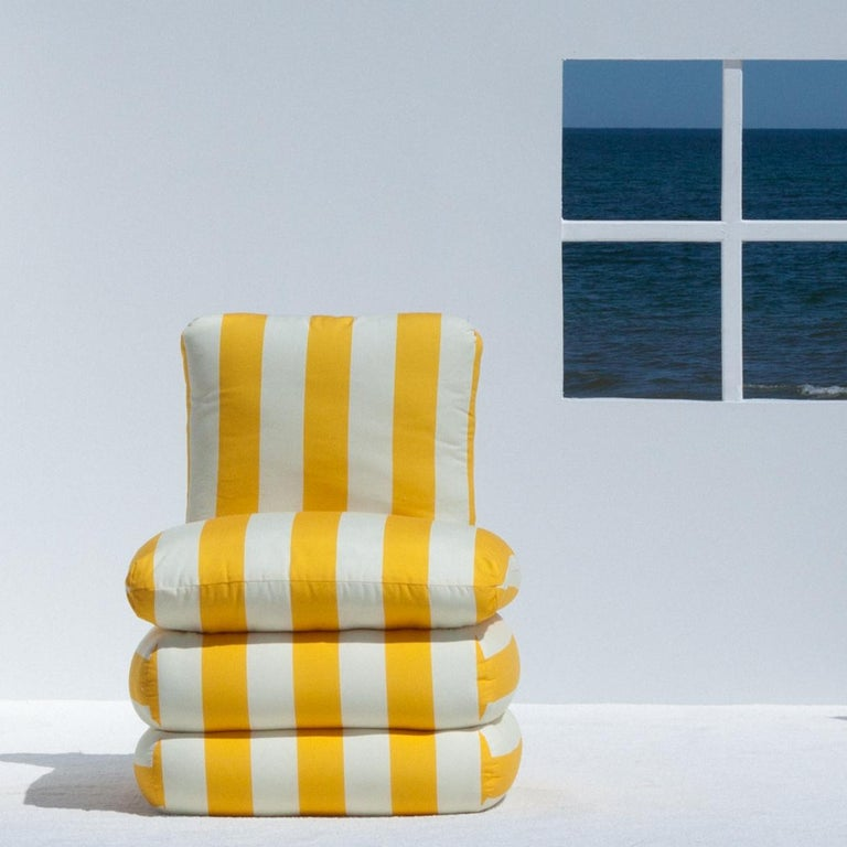 American Pillow Chair, Yellow  For Sale