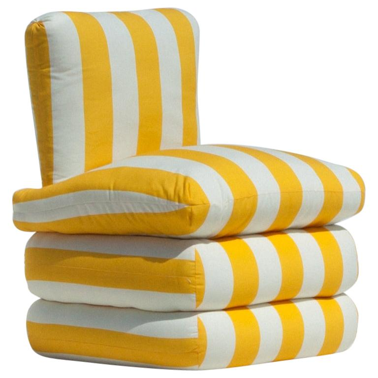 Pillow Chair, Yellow  For Sale