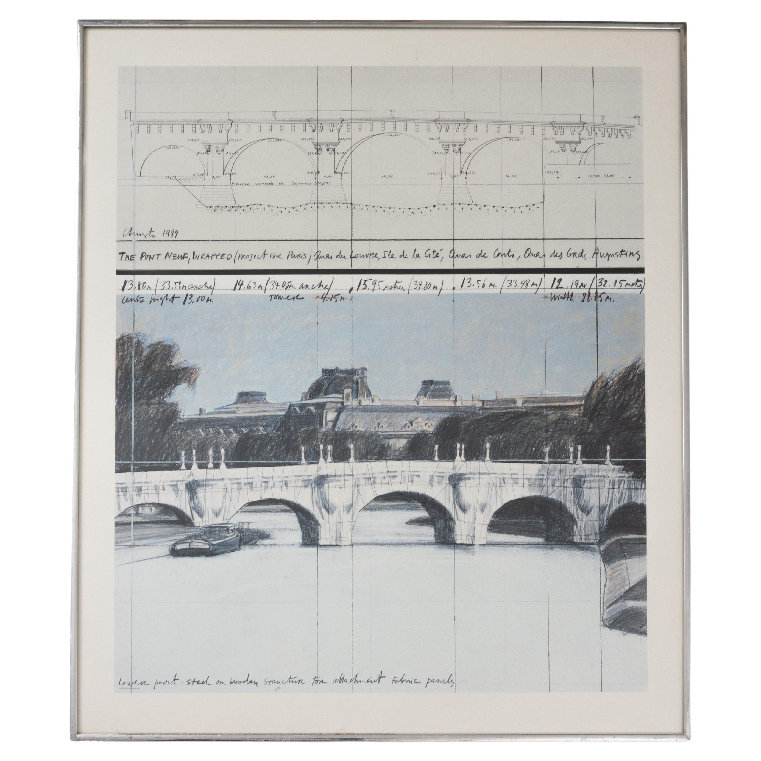 Christo / The Pont Neuf Wrapped / Project For Paris, 1984 Lithograph