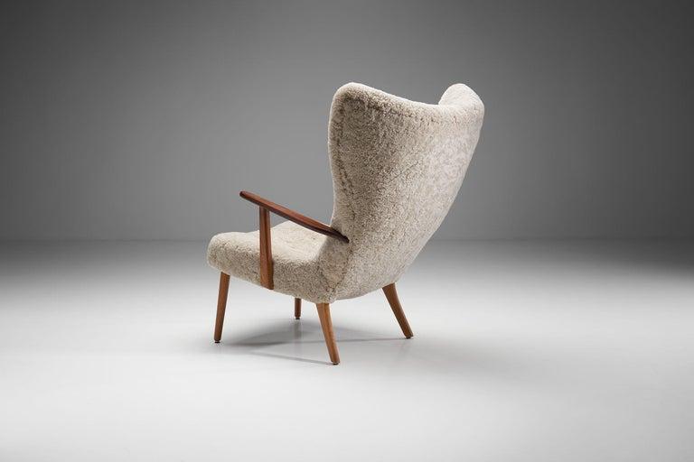 "Mid-Century Modern ""The Prague Chair"" by Madsen & Schubell, Denmark, 1950s"