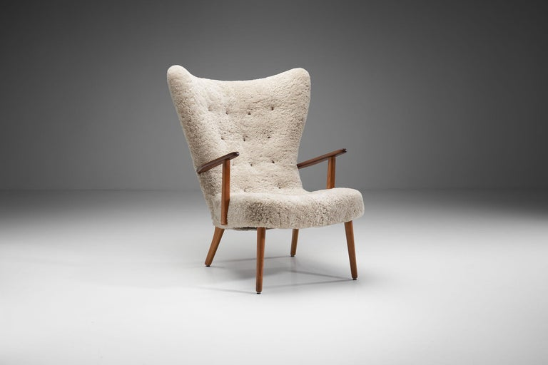 """Mid-20th Century """"The Prague Chair"""" by Madsen & Schubell, Denmark, 1950s"""