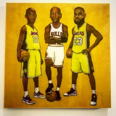 Kobe Bryant, Michael Jordan, and Lebron James