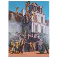 """The Purple Palace"" by Richard George Oil Painting Nudes Postmodern Surrealism"