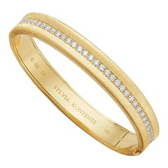 "The ""Q"" Bracelet, 18 Karat Yellow Gold and Diamond, Q9"
