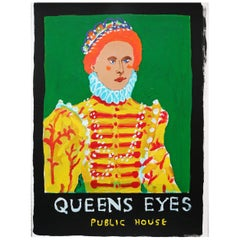 'The Queens Eyes' Portrait Painting by Alan Fears Acrylic on Paper