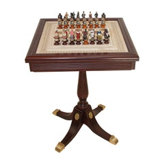 The Raj Hand Painted India-British War 1857 Game Chess with Table