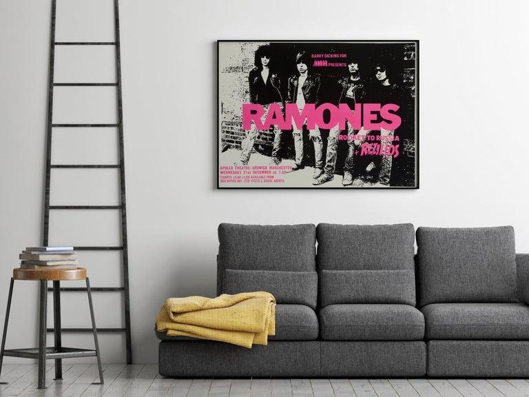 Post-Modern The Ramones Original Vintage Concert Poster, British, 1977 For Sale