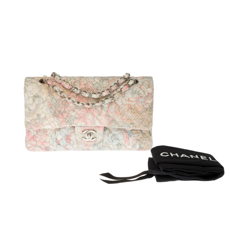 The Rare Chanel Timeless Camelia Medium Shoulder bag in  multicolor Tweed, SHW For Sale 6