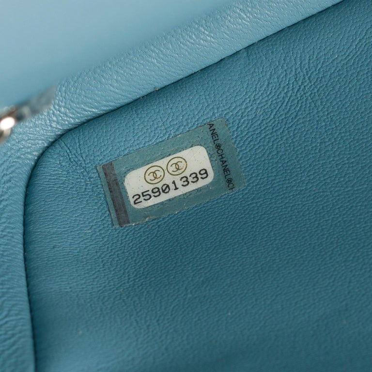 The Rare Chanel Timeless  Runaway Waterfalls Shoulder bag in blue sequins , SHW For Sale 1