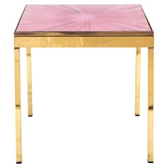 Rays II Pink Brass Bedside Table by Allegra Hicks