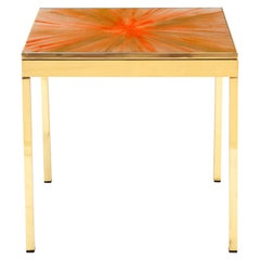 The Rays IV Orange Brass Bedside Table by Allegra Hicks